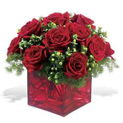 Türkiye güvenli kaliteli hızlı çiçek  9 adet kirmizi gül cam yada mika vazoda
