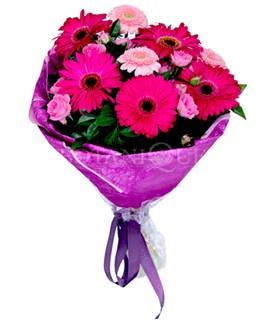 Türkiye çiçekçi telefonları  karışık gerbera çiçeği buketi