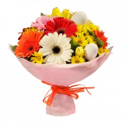 Karışık mevsim buketi Mevsimsel çiçek  Türkiye ucuz çiçek gönder