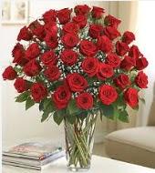 Cam vazoda 51 kırmızı gül süper indirimde  Türkiye çiçekçiler