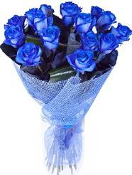9 adet mavi gülden buket çiçeği  Türkiye çiçek yolla