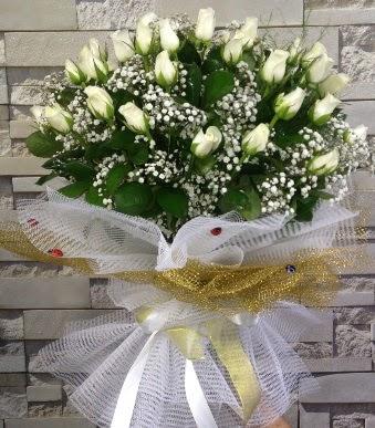 41 adet beyaz gül kız isteme buketi  Türkiye çiçek yolla , çiçek gönder , çiçekçi