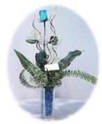Türkiye cicek , cicekci  Kalite mika yada cam vazo mavi gül tanzim