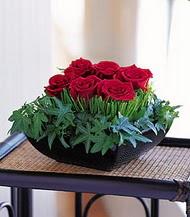 Türkiye çiçekçi telefonları  10 adet kare mika yada cam vazoda gül tanzim