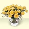 Türkiye online çiçekçi , çiçek siparişi  11 adet sari gül cam yada mika vazo içinde