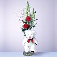 2 adet gül ve panda özel  Türkiye çiçek gönderme