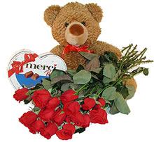 oyuncak çikolata  12  gül   Türkiye güvenli kaliteli hızlı çiçek