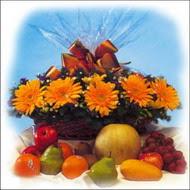 sepette gerbera ve meyvalar   Türkiye çiçek gönderme