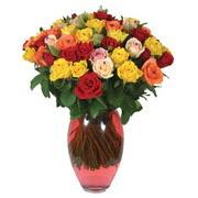 51 adet gül ve kaliteli vazo   Türkiye kaliteli taze ve ucuz çiçekler