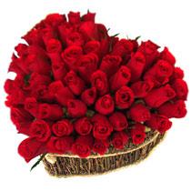 Türkiye çiçek siparişi sitesi  büyük sepet içerisinde sevgi biçimi