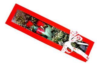 Türkiye çiçek yolla  Kutuda 3 adet gül