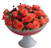 Türkiye çiçekçiler  cam vazo içinde güller