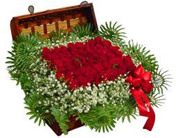 Türkiye çiçek yolla , çiçek gönder , çiçekçi   17 adet gül ve örme japon sepeti