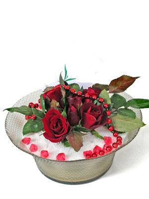Türkiye hediye çiçek yolla  EN ÇOK Sevenlere 7 adet kirmizi gül mika yada cam tanzim