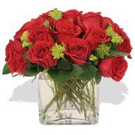 Türkiye online çiçekçi , çiçek siparişi  10 adet kirmizi gül ve cam yada mika vazo