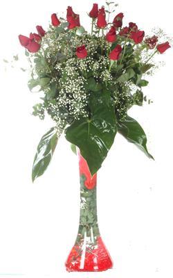 Türkiye çiçekçiler  19 ADET GÜL VE FIL CAM AYAGI