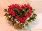 Türkiye çiçek , çiçekçi , çiçekçilik  Kalp seklinde hazirlanmis gül tanzimi