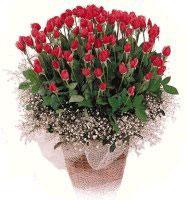 Türkiye internetten çiçek satışı  61 adet kirmizi gül buketi sepet tanzimi