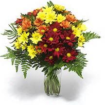 Türkiye çiçekçi telefonları  Karisik çiçeklerden mevsim vazosu