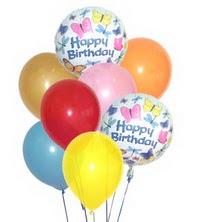 Türkiye çiçek yolla  17 adet karisik renkte uçan balonlar