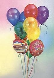 Türkiye cicek , cicekci  19 adet karisik renkte uçan balon buketi