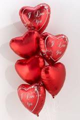 Türkiye çiçek mağazası , çiçekçi adresleri  6 adet kirmizi folyo kalp uçan balon buketi