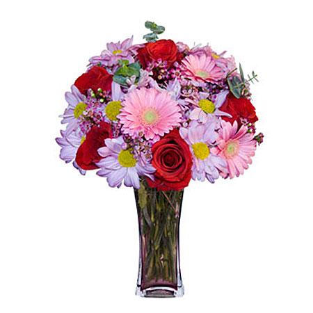 Görsel hediye karisik cam mevsim demeti  Türkiye çiçek gönderme