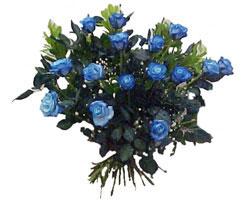 Türkiye çiçek mağazası , çiçekçi adresleri  9 mavi gül güzel bir buket