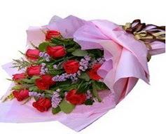 11 adet kirmizi güllerden görsel buket  Türkiye kaliteli taze ve ucuz çiçekler
