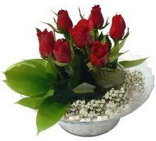 Türkiye çiçek satışı  cam yada mika içerisinde 5 adet kirmizi gül