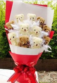 11 adet ayi buketi en güzel hediye  Türkiye çiçekçiler