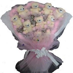 Türkiye çiçek gönderme  11 adet ayiciktan görsel bir buket