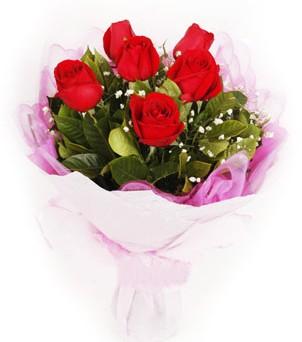 Türkiye online çiçek gönderme sipariş  kırmızı 6 adet gülden buket