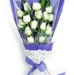 Türkiye çiçek gönderme  11 adet beyaz gül buket modeli