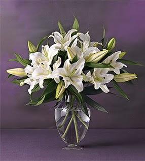 Türkiye çiçek mağazası , çiçekçi adresleri  4 dal cazablanca vazo çiçeği