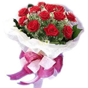 Türkiye çiçek yolla , çiçek gönder , çiçekçi   11 adet kırmızı güllerden buket modeli