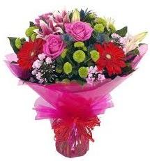 Karışık mevsim çiçekleri demeti  Türkiye çiçekçi mağazası