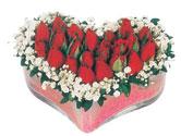 Türkiye online çiçekçi , çiçek siparişi  mika kalpte kirmizi güller 9