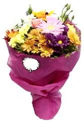 1 demet karışık görsel buket  Türkiye çiçek siparişi vermek
