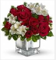 11 adet kırmızı gül ve beyaz kır çiçekleri  Türkiye internetten çiçek siparişi