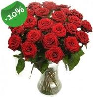 Vazo içerisinde 25 adet kırmızı gül  Türkiye çiçek siparişi sitesi