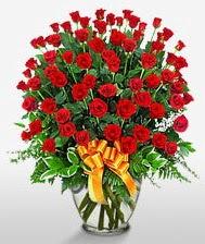 Görsel vazo içerisinde 101 adet gül  Türkiye çiçek siparişi sitesi