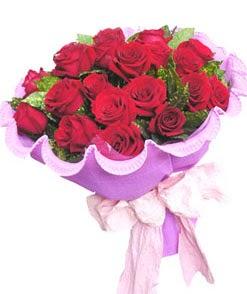 12 adet kırmızı gülden görsel buket  Türkiye çiçek gönderme