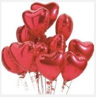 30 adet kırmızı kalp uçan balon buketi