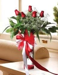 Camda 5 kırmızı gül tanzimi  Türkiye online çiçekçi , çiçek siparişi