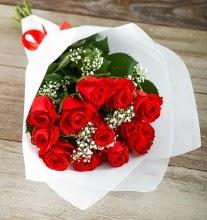 9 kırmızı gülden buket çiçeği  Türkiye yurtiçi ve yurtdışı çiçek siparişi