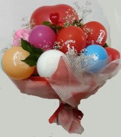 Benimle Evlenirmisin balon buketi  Türkiye çiçekçiler