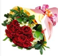12 adet kırmızı gül ve papatyalar  Türkiye çiçek siparişi vermek