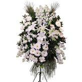 Türkiye çiçek siparişi sitesi  Ferforje beyaz renkli kazablanka