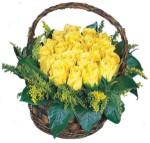 Türkiye çiçek siparişi sitesi  Sepet içinde kaliteli sari güller